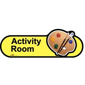 Activity Room sign - 480mm - Yellow