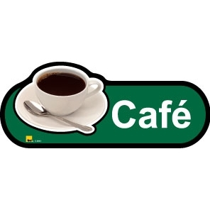 Cafe sign - 300mm - Green