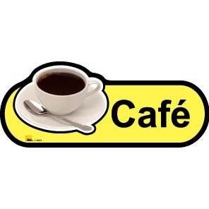 Cafe sign - 300mm - Yellow