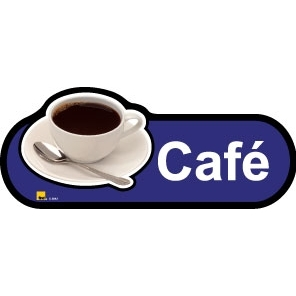 Cafe sign - 480mm - Blue