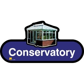 Conservatory sign - 300mm - Blue