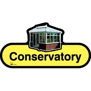 Conservatory sign - 300mm - Yellow