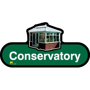 Conservatory sign - 480mm - Green