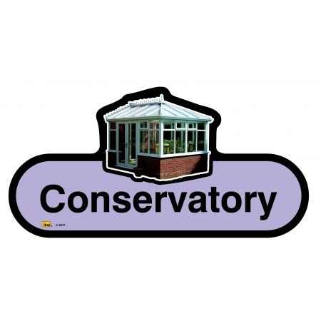Conservatory sign - 480mm - Lilac