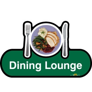 Dining Lounge sign - 300mm - Green
