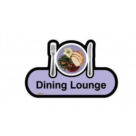Dining Lounge sign - 300mm - Lilac
