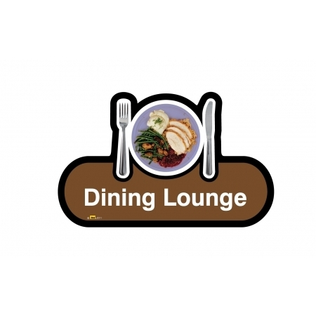 Dining Lounge sign - 480mm - Brown
