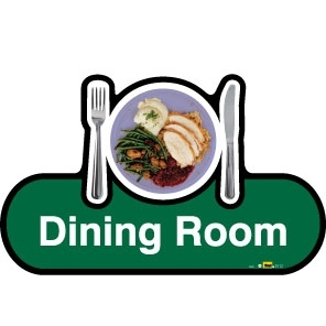 Dining Room sign - 300mm - Green