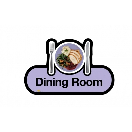 Dining Room sign - 300mm - Lilac