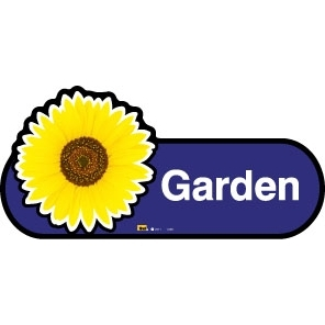 Garden sign - 300mm - Blue