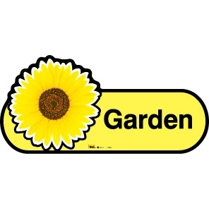 Garden sign - 480mm - Yellow