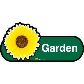 Garden sign - 480mm - Green