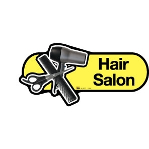 Hair Salon sign - 300mm - Yellow