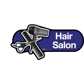 Hair Salon sign - 480mm - Blue