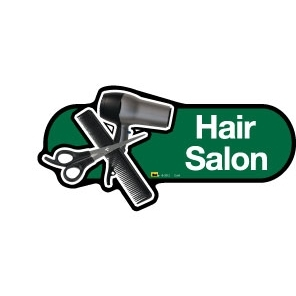 Hair Salon sign - 480mm - Green
