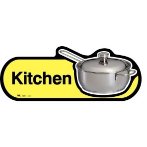 Kitchen sign - 300mm - Yellow
