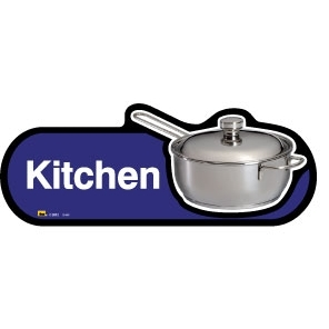 Kitchen sign - 480mm - Blue