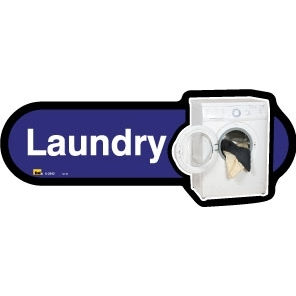 Laundry sign - 300mm - Different colours available - Blue