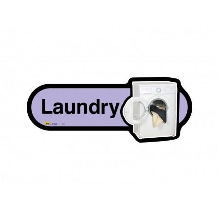 Laundry sign - 300mm - Different colours available - Lilac