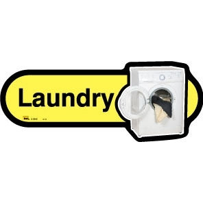 Laundry sign - 480mm - Different colours available - Yellow