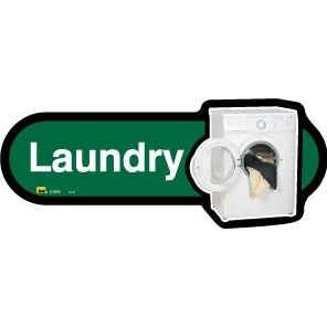 Laundry sign - 480mm - Different colours available - Green