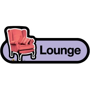 Lounge sign - 300mm - Lilac