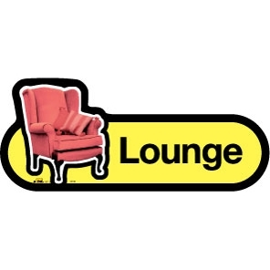 Lounge sign - 300mm - Yellow