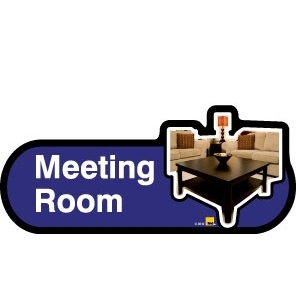 Meeting Room sign - 300mm - Blue
