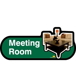 Meeting Room sign - 480mm - Green