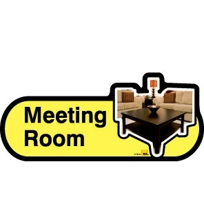 Meeting Room sign - 480mm - Yellow