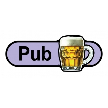 Pub - 300mm sign - Lilac