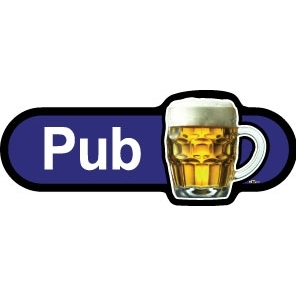 Pub sign - 480mm - Blue