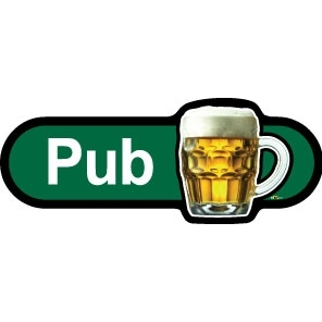 Pub sign - 480mm - Green