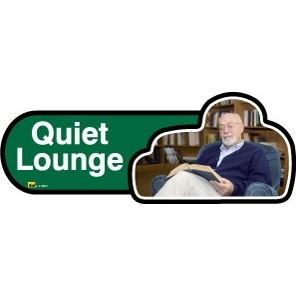Quiet Lounge sign - 480mm - Green