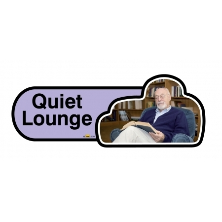 Quiet Lounge sign - 480mm - Lilac
