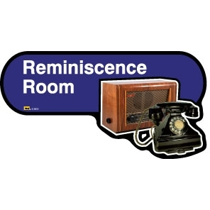 Reminiscence Room sign - 480mm - Blue