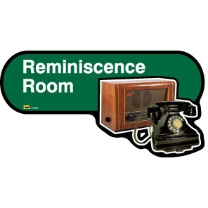 Reminiscence Room sign - 480mm - Green