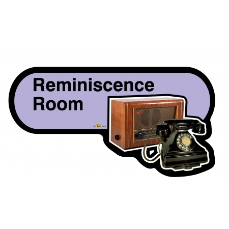 Reminiscence Room sign - 480mm - Lilac