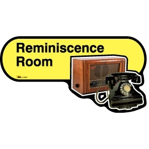 Reminiscence Room sign - 480mm - Yellow