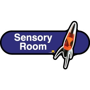 Sensory Room sign - 480mm - Blue