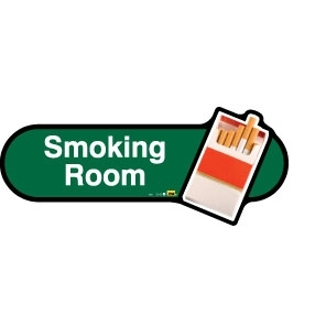 Smoking Room sign - 300mm - Green