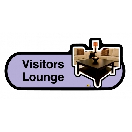 Visitors Lounge sign - 300mm - Lilac