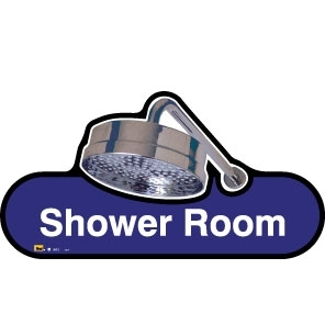 Shower sign - 300mm - Blue