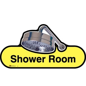 Shower sign - 480mm - Yellow