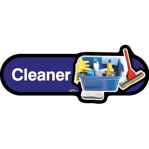 Cleaner sign - 300mm - Blue