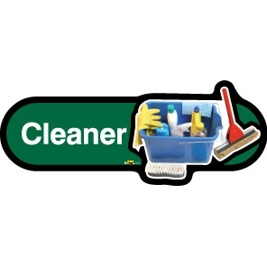 Cleaner sign - 300mm - Green