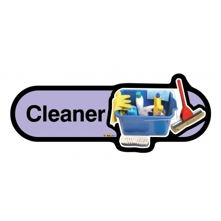 Cleaner sign - 300mm - Lilac
