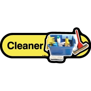 Cleaner sign - 480mm - Yellow