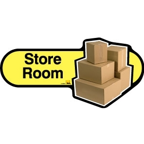 Store Room sign - 300mm - Yellow