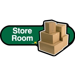 Store Room sign - 480mm - Green